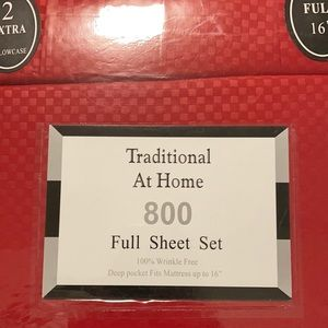 Traditional At Home 6pc Full Sheet Set Ruby red